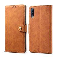 Lenuo Leather pro Samsung Galaxy A7, hnědá - Pouzdro na mobilní telefon
