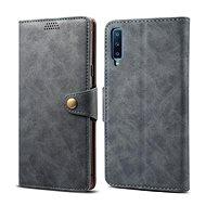 Lenuo Leather pro Samsung Galaxy A7, šedá - Pouzdro na mobilní telefon