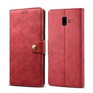 Lenuo Leather pro Samsung Galaxy J6+ červená - Pouzdro na mobilní telefon