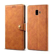 Lenuo Leather pro Samsung Galaxy J6+ hnědá - Pouzdro na mobilní telefon