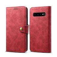 Lenuo Leather pro Samsung Galaxy S10, červená - Pouzdro na mobilní telefon