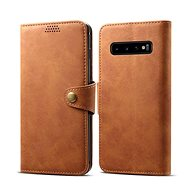 Lenuo Leather pro Samsung Galaxy S10, hnědá - Pouzdro na mobilní telefon