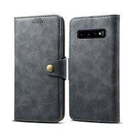 Lenuo Leather pro Samsung Galaxy S10, šedá - Pouzdro na mobilní telefon
