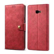 Lenuo Leather pro Samsung Galaxy J4+, červená - Pouzdro na mobilní telefon