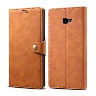 Lenuo Leather pro Samsung Galaxy J4+, hnědá - Pouzdro na mobilní telefon