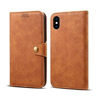 Lenuo Leather pro iPhone X/Xs, hnědá - Pouzdro na mobilní telefon