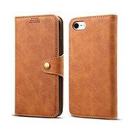 Lenuo Leather pro iPhone 8/7 , hnědá - Pouzdro na mobilní telefon
