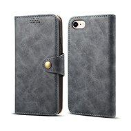 Lenuo Leather na iPhone 8/7 , šedá - Pouzdro na mobilní telefon