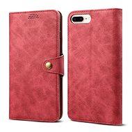 Lenuo Leather na iPhone 8 Plus/7 Plus, červená - Pouzdro na mobilní telefon