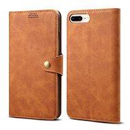 Lenuo Leather pro iPhone 8 Plus/7 Plus, hnědá - Pouzdro na mobil