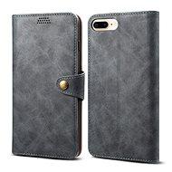 Lenuo Leather na iPhone 8 Plus/7 Plus, šedá - Pouzdro na mobilní telefon