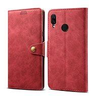 Lenuo Leather pro Huawei Nova 3, červená - Pouzdro na mobilní telefon