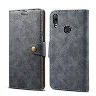 Lenuo Leather pro Huawei Y7 / Y7 Prime (2019), Gray - Pouzdro na mobilní telefon