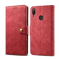 Lenuo Leather pro Huawei Y7 / Y7 Prime (2019), Red - Pouzdro na mobilní telefon