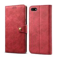 Lenuo Leather pro Huawei Y5 (2018), červená - Pouzdro na mobilní telefon