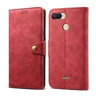 Lenuo Leather pro Xiaomi Redmi 6, červená - Pouzdro na mobilní telefon