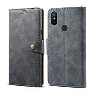 Lenuo Leather pro Xiaomi Mi A2, šedá - Pouzdro na mobilní telefon