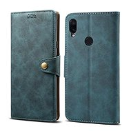 Lenuo Leather na Xiaomi Redmi Note 7, modrá