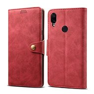 Lenuo Leather na Xiaomi Redmi Note 7, červená