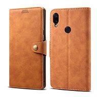Lenuo Leather pro Xiaomi Redmi Note 7, hnědá - Pouzdro na mobilní telefon