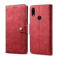 Lenuo Leather for Xiaomi Redmi 7, Red - Mobile Phone Case