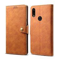 Lenuo Leather pro Xiaomi Redmi 7, hnědá - Pouzdro na mobilní telefon