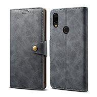 Lenuo Leather pro Xiaomi Redmi 7, šedá - Pouzdro na mobilní telefon