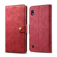 Lenuo Leather pro Samsung Galaxy A10, červené - Pouzdro na mobilní telefon