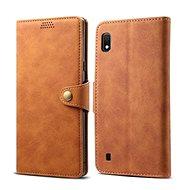Lenuo Leather pro Samsung Galaxy A10, hnědé - Pouzdro na mobilní telefon