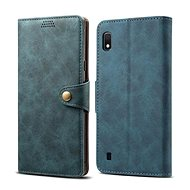 Lenuo Leather pro Samsung Galaxy A10, modré