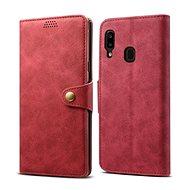 Lenuo Leather pro Samsung Galaxy A20e, červené
