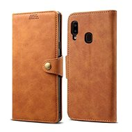 Lenuo Leather pro Samsung Galaxy A20e, hnědé