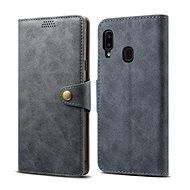 Lenuo Leather pro Samsung Galaxy A20e, šedé