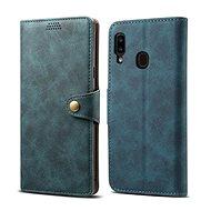 Lenuo Leather pro Samsung Galaxy A20e, modré