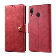 Lenuo Leather pro Samsung Galaxy A30, červené - Pouzdro na mobilní telefon