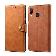 Lenuo Leather pro Samsung Galaxy A30, hnědé - Pouzdro na mobilní telefon