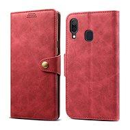 Lenuo Leather pro Samsung Galaxy A40, červené