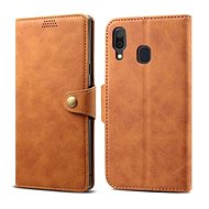 Lenuo Leather pro Samsung Galaxy A40, hnědé