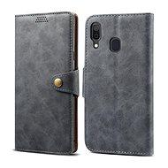 Lenuo Leather pro Samsung Galaxy A40, šedé - Pouzdro na mobilní telefon