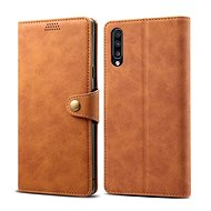 Lenuo Leather pro Samsung Galaxy A70, hnědé
