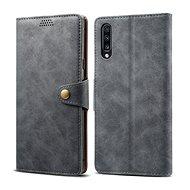 Lenuo Leather pro Samsung Galaxy A70, šedé