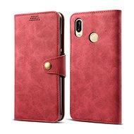 Lenuo Leather pro Huawei P30 lite, červené - Pouzdro na mobilní telefon