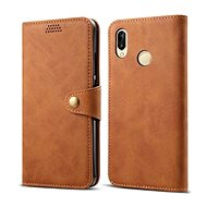 Lenuo Leather pro Huawei P30 Lite/P30 Lite New Edition, hnědé - Pouzdro na mobil