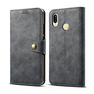 Lenuo Leather pro Huawei P30 Lite/P30 Lite New Edition, šedé