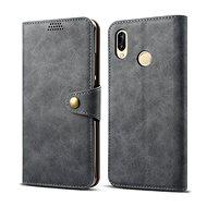 Lenuo Leather pro Huawei P30 Lite/P30 Lite New Edition, šedé - Pouzdro na mobil
