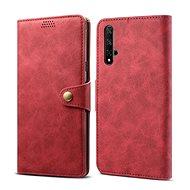 Lenuo Leather pro Honor 20/Huawei Nova 5T, červená - Pouzdro na mobil