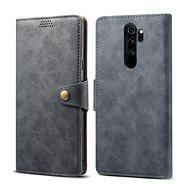 Lenuo Leather pro Xiaomi Redmi Note 8 Pro, šedá - Pouzdro na mobil