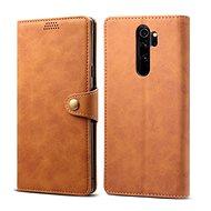 Pouzdro na mobil Lenuo Leather pro Xiaomi Redmi Note 8 Pro, hnědá