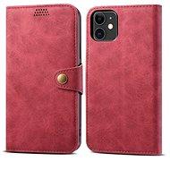 Lenuo Leather pro iPhone 11, červená - Pouzdro na mobilní telefon