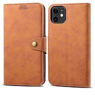 Lenuo Leather pro iPhone 11, hnědá - Pouzdro na mobilní telefon